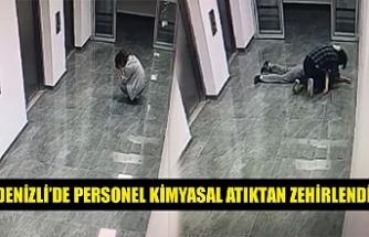 Denizli'de personel kimyasal atıktan zehirlendi