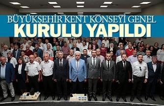 Büyükşehir kent konseyi genel kurulu yapıldı