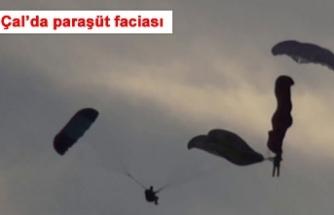 Çal'da paraşüt faciası