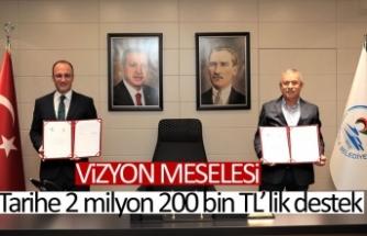 Tarihe 2 milyon 200 bin TL'lik destek