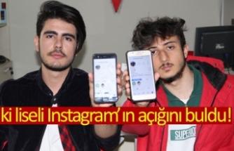 İki liseli Instagram'ın açığını buldu!