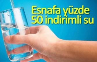 Esnafa yüzde 50 indirimli su!