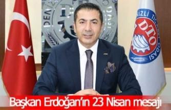 Başkan Erdoğan'ın 23 Nisan mesajı