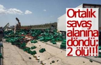 Ortalık savaş alanına döndü; 2 ölü!!!