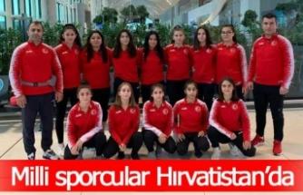 Milli sporcular Hırvatistan'da