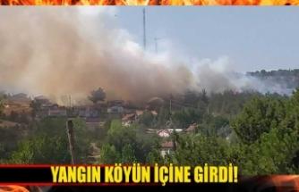 Alevler köyü sardı!