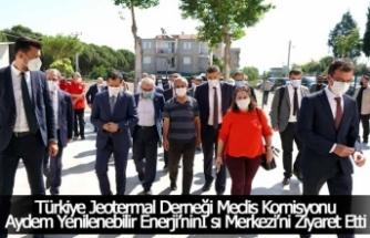 Türkiye Jeotermal Derneği Meclis Komisyonu,  Aydem Yenilenebilir Enerji'ninIsı Merkezi'ni Ziyaret Etti