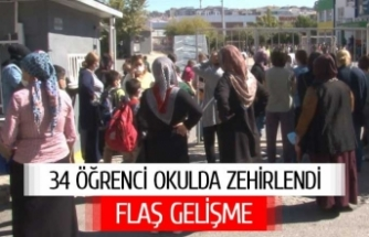 34 öğrenci okulda zehirlendi