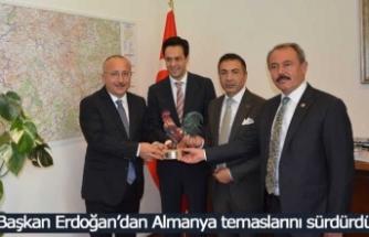 Başkan Erdoğan'dan Almanya temaslarını sürdürdü