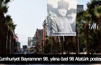 Cumhuriyet Bayramının 98. yılına özel 98 Atatürk posteri