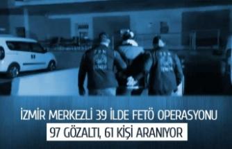 İzmir merkezli 39 ilde FETÖ operasyonu