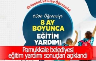 Pamukkale belediyesi eğitim yardımı sonuçları açıklandı