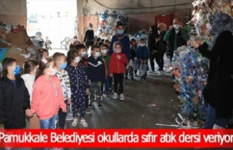 Pamukkale Belediyesi okullarda sıfır atık dersi veriyor