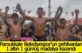 Pamukkale Belediyespor'un pehlivanları 1 altın 1 gümüş madalya kazandı