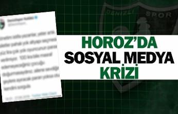 Horoz'da sosyal medya krizi