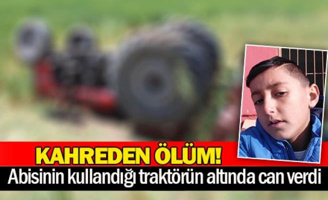 Abisinin kullandığı traktörün altında can verdi