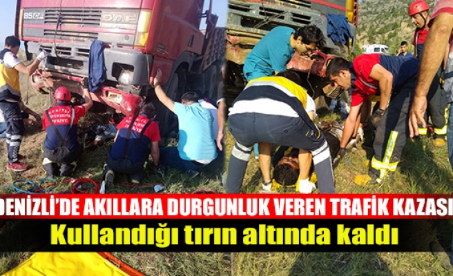 Denizli'de akıllara durgunluk veren trafik kazası!