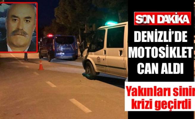 Denizli'de motosiklet can aldı 1 ölü