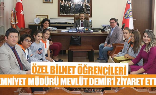 Özel Bilnet öğrencileri Emniyet Müdürü Mevlüt Demir'i ziyaret etti