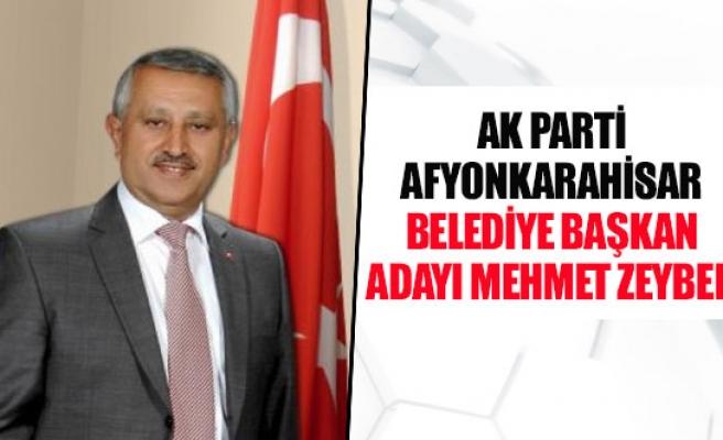 Ak parti Afyonkarahisar belediye başkan adayı Mehmet Zeybek