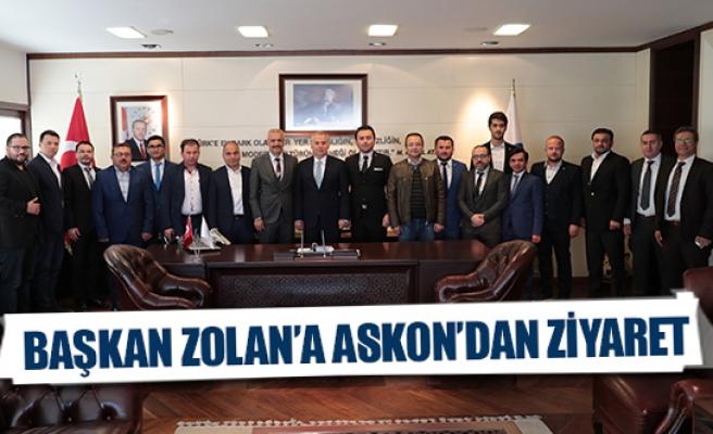 Başkan Zolan'a ASKON'dan ziyaret