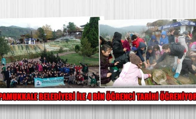 Pamukkale Belediyesi ile 4 bin öğrenci tarihi öğreniyor