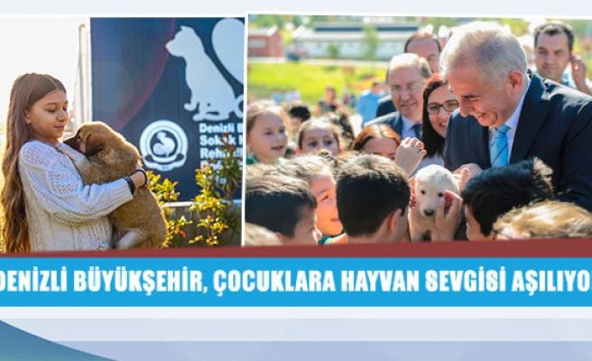 Denizli Büyükşehir, çocuklara hayvan sevgisi aşılıyor