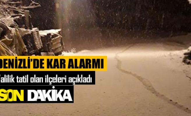 Denizli'de kar alarmı