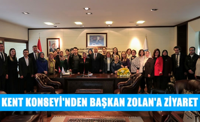 Kent konseyi'nden başkan Zolan'a ziyaret
