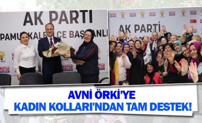 Avni Örki'ye kadın kolları'ndan tam destek!