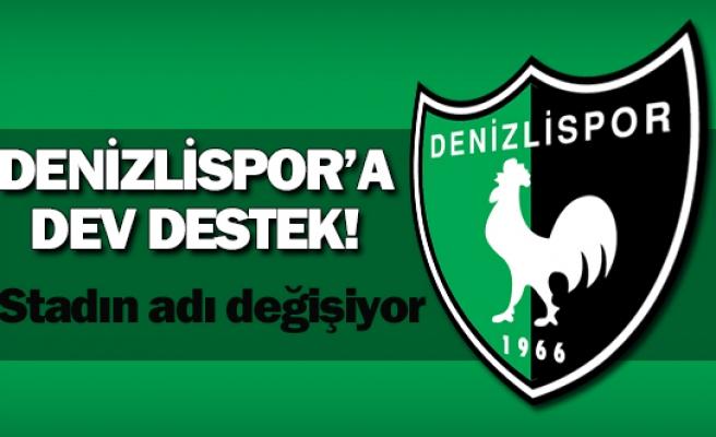Denizlispor'a dev destek!