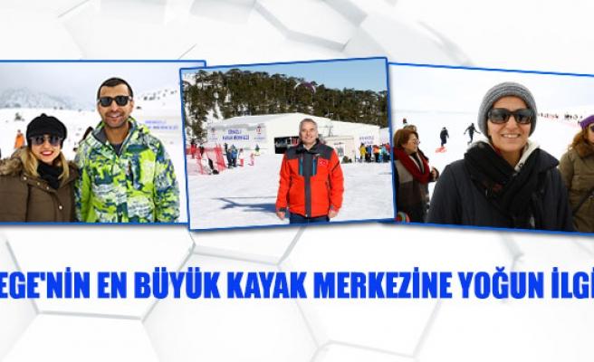 Ege'nin en büyük kayak merkezine yoğun ilgi