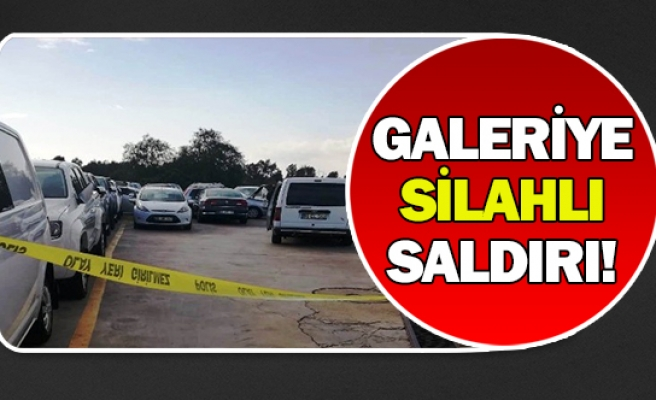 Galeriye silahlı saldırı!