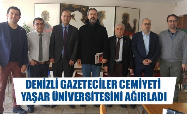 Denizli Gazeteciler Cemiyeti Yaşar Üniversitesini Ağırladı
