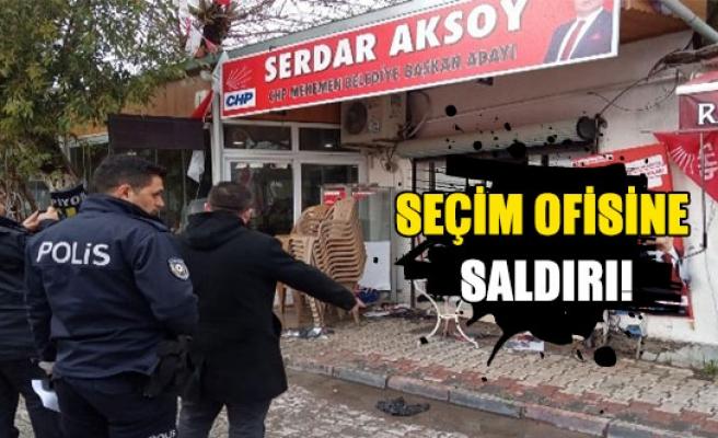 Seçim ofisine saldırı !