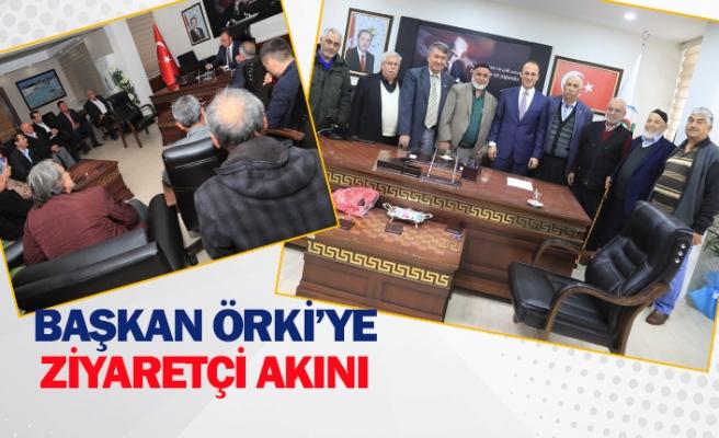 Başkan Örki'ye ziyaretçi akını