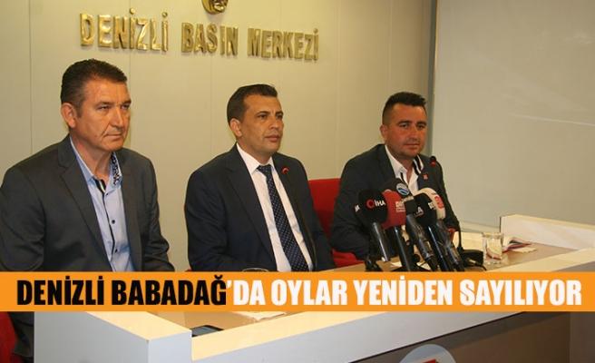 Denizli Babadağ'da oylar yeniden sayılıyor