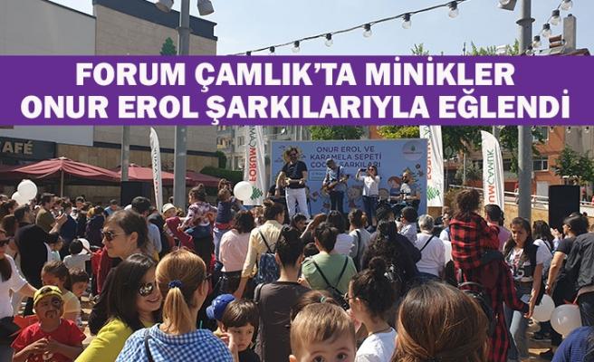 Forum Çamlık'ta minikler Onur Erol şarkılarıyla eğlendi