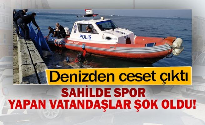 Sahilde spor yapan vatandaşlar şok oldu!