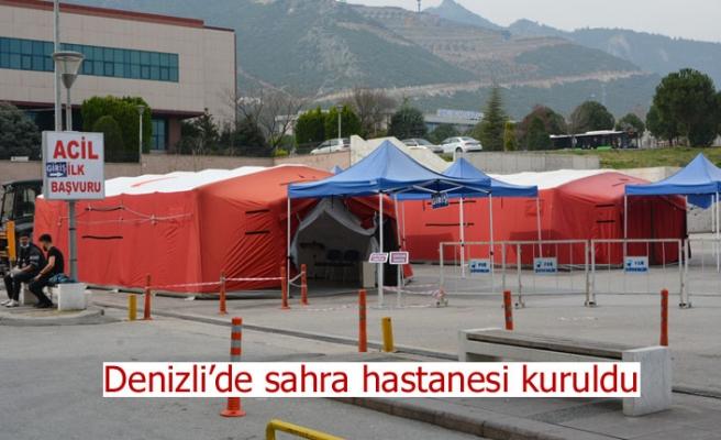 Denizli'de sahra hastanesi kuruldu