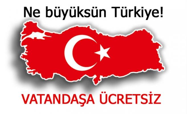 Ne büyüksün Türkiye!