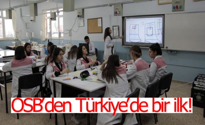 OSB'den Türkiye'de bir ilk!