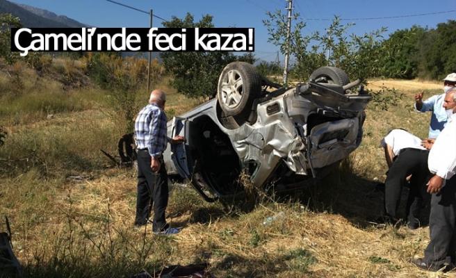 Çameli'nde feci kaza!