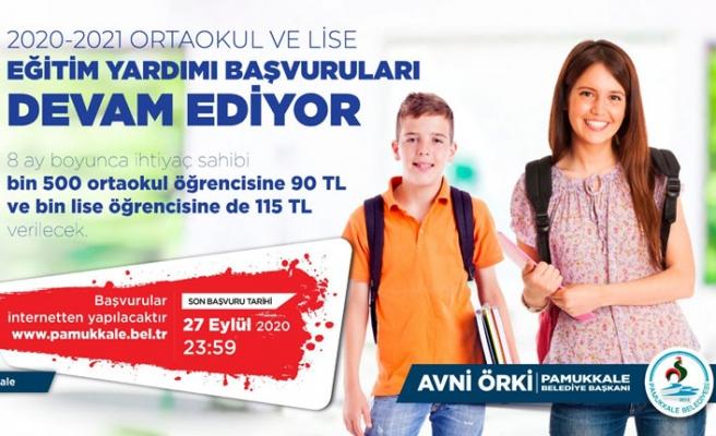 Başkan Örki'den öğrencilere destek!
