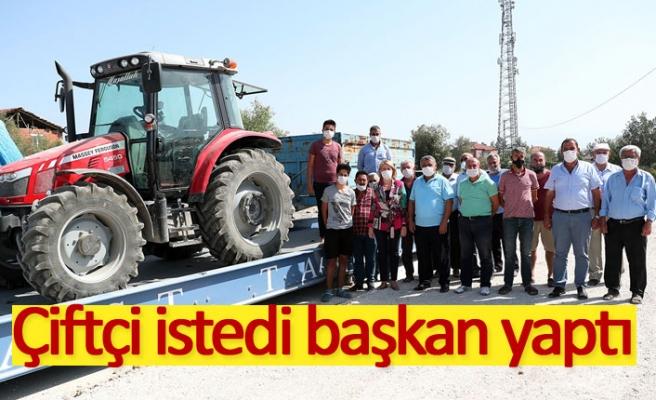 Çiftçi istedi başkan yaptı!