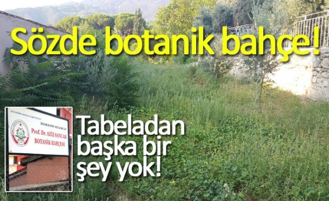 Sözde botanik bahçe!