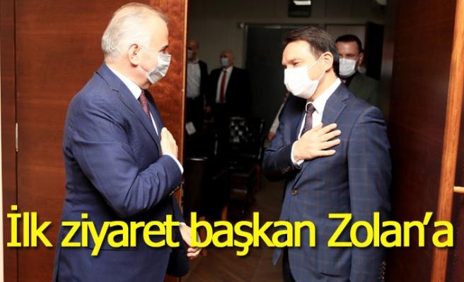 İlk ziyaret başkan Zolan'a