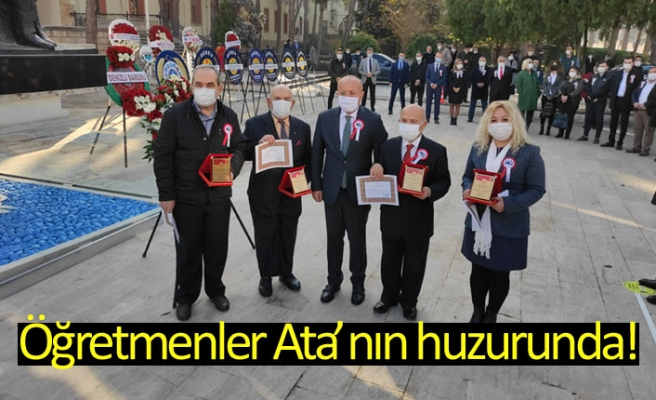Öğretmenler Ata'nın huzurunda!