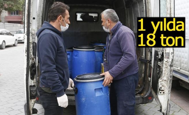 1 yılda 18 ton