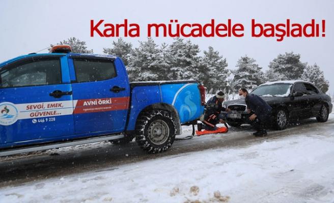 Karla mücadele başladı!